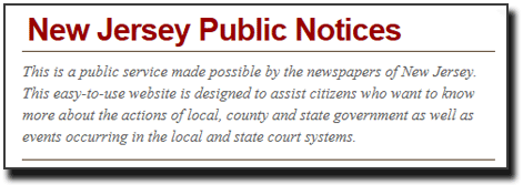 NJ Public Notices